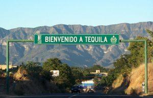 Panneau de bienvenue dans la localité mexicaine de Tequila (Janisco)