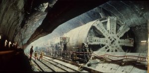 Un tunnelier en action