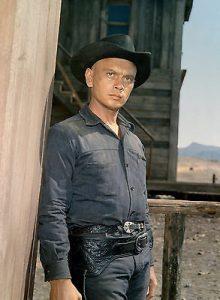 "L'acteur états-unien Yul Brynner dans le film états-unien ""Les 7 mercenaires"" de John Sturges (1960)"