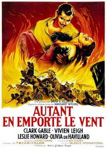 """Affiche du film états-unien """"Autant en emporte le vent"""" de Victor Fleming (1939) sorti en France en 1950"""