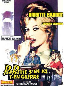 """Affiche du film français """"Babette s'en va-t'en guerre"""" de Christian-Jaque (1959)"""