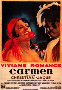 """Affiche du film français """"Carmen"""" de Christian-Jaque (1945)"""