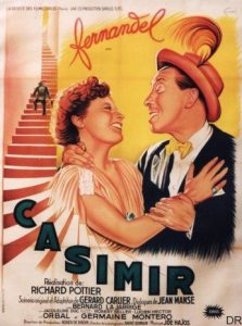 "Affiche du film français ""Casimir"" de Richard Pottier (1950)"