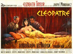 """Affiche du film états-unien """"Cléopatre"""" de Joseph L. Mankiewicz (1963)"""