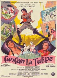 """Affiche du film français """"Fanfan la tulipe"""" de Christian-Jaque (1951)"""