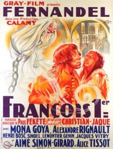 """Affiche du film français """"François 1er"""" de Christian-Jaque (1937)"""