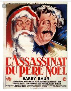 """Affiche du film français """"L'assassinat du Père-Noël"""" de Christian-Jaque (1941)"""