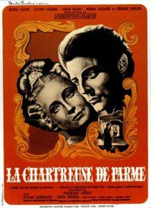 """Affiche du film français """"La chartreuse de Parme"""" de Christian-Jaque (1948)"""