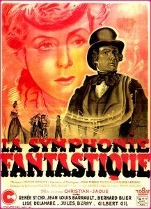 """Affiche du film français """"La symphonie fantastique"""" de Christian-Jaque (1942)"""