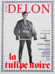 """Affiche du film français """"La tulipe noire"""" de Christian-Jaque (1964)"""