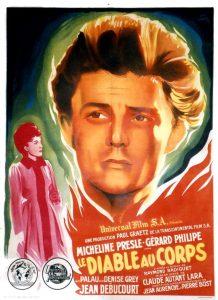 """Affiche du film français """"Le diable au corps"""" de Claude Autant-Lara (1947)"""