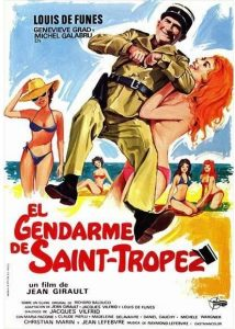 """Affiche du film français """"Le gendarme de Saint-Tropez"""" de Jean Girault (1964)"""