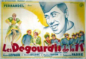"""Affiche du film français """"Les dégourdis de la 11e"""" de Christian-Jaque (1937)"""