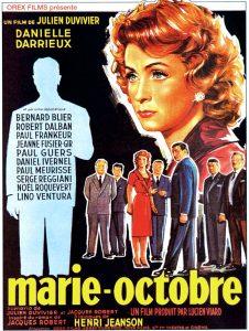 """Affiche du film français """"Marie-Octobre"""" de Julien Duvivier (1959)"""