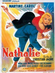 """Affiche du film français """"Nathalie"""" de Christian-Jaque (1957)"""