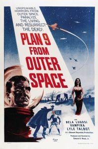 """Affiche du film états-unien """"Plan 9 from outer space"""" de Edward D. Wood Jr (1959)"""