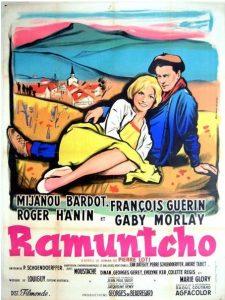 """Affiche du film français """"Ramuntcho"""" de Pierre Schoendoerffer (1959)"""