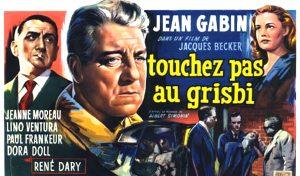 """Affiche du film français """"Touchez pas au grisbi"""" de Jacques becker (1954)"""