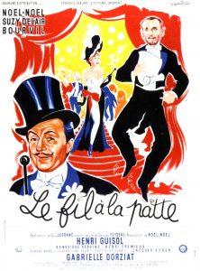 """Affiche du film français """"Un fil à la patte"""" de Guy Lefranc (1955)"""