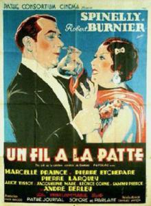 """Affiche du film français """"Un fil à la patte"""" de Karl Anton (1933)"""