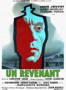 """Affiche du film français """"Un revenant"""" ou """"Le revenant"""" de Christian-Jaque (1946)"""