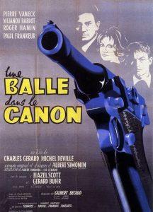 """Affiche du film français """"Une balle dans le canon"""" de Charles Gérard et Michel Deville (1958)"""