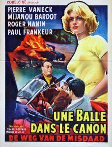 """Affiche du film français """"Une balle dans le canon"""" de Charles Gérard (1958)"""