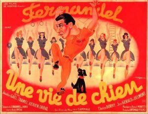 """Affiche du film français """"Une vie de chien"""" de Maurice Cammage (1943)"""