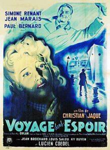 """Affiche du film français """"Voyage sans espoir"""" de Christian-Jaque (1943)"""