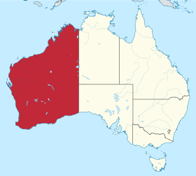 Localisation de l'Australie-Occidentale