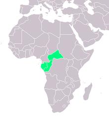 Localisation du Congo français, en Afrique centrale