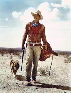 "Hondo (John Wayne) et lson chien Sam, dans ""Hondo, l'homme du désert"" de John Farrow (1953)"