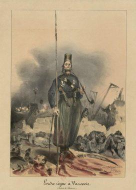 """L'ordre règne à Varsovie"" : illustration de Grandville (1831)"