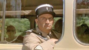 """Le maréchal des logis-chef Ludovic Truchot (Louis de Funès) dans le film français """"Le gendarme de Saint-Tropez"""" de Jean Girault (1964)"""
