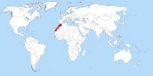 Localisation du Maroc