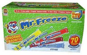 """Boîte de bâtonnets de glace à l'eau sucrés """"Mr. Freeze"""" de la société états-unienne Leaf International BV"""