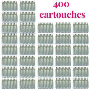 """Lot de 400 cartouches de """"gaz siphon professionnelles N2O pour chantilly"""" en vente sur le site bienmanger.com"""