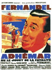 """Affiche du film français """"Adhémar ou le jouet de la fatalité"""" de Fernandel (1951)"""