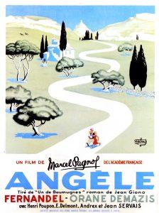 """Affiche du film français """"Angèle"""" de Marcel Pagnol (1934)"""