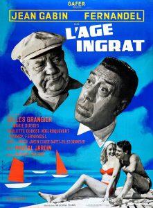 """Affiche du film français """"L'âge ingrat"""" de Gilles Grangier (1964)"""