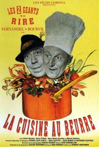 """Affiche du film français """"La cuisine au beurre"""" de Gilles Grangier (1963)"""