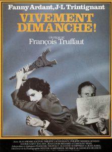 """Affiche du film français """"vivement dimanche !"""" de François Truffaut (1983)"""