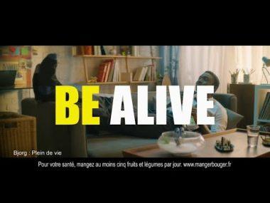 """Spot publicitaire de février 2020 de la marque """"Bjorg"""" : """"Bjorg to be alive""""."""