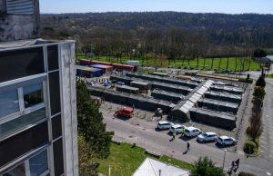 """L'EMR-SSA (Élément Militaire de Réanimation du Service de Santé des Armées), couramment appelé """"Hôpital militaire de campagne"""", déployé à Mulhouse (68), du 21 mars au 17 avril 2020"""