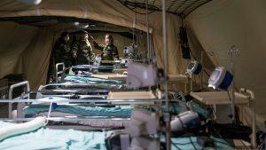 """L'EMR-SSA (Élément Militaire de Réanimation du Service de Santé des Armées), couramment appelé """"Hôpital militaire de campagne"""""""