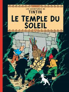 """""""Le temple du soleil"""", 14e album des aventures de Tintin, publié par Hergé en 1949 (et de 1946 à 1948 dans le journal """"Tintin"""")"""