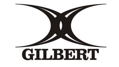 Logo de l'équipementier sportif britannique Gilbert spécialisé dans le rugby et le netball