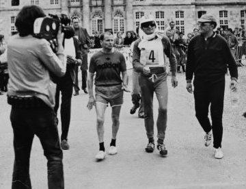 Le champion français de marche à pied Louis Lebacquer