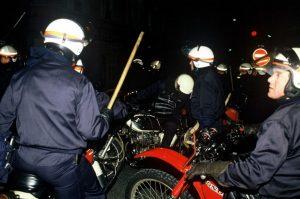 Les PVM (Pelotons de Voltigeurs Motocyclistes) responsables de la mort de Malik Oussekine en 1986