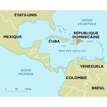 Localisation de la République dominicaine